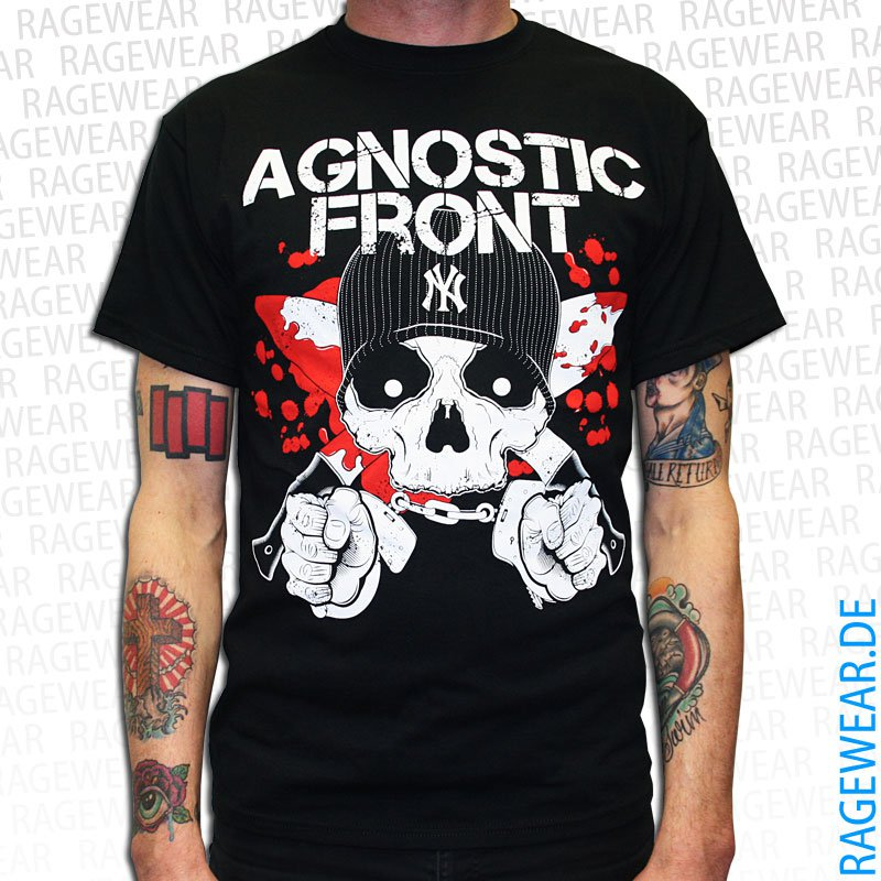 AGNOSTIC-FRONT-Blood-Knife-T-Shirt-black