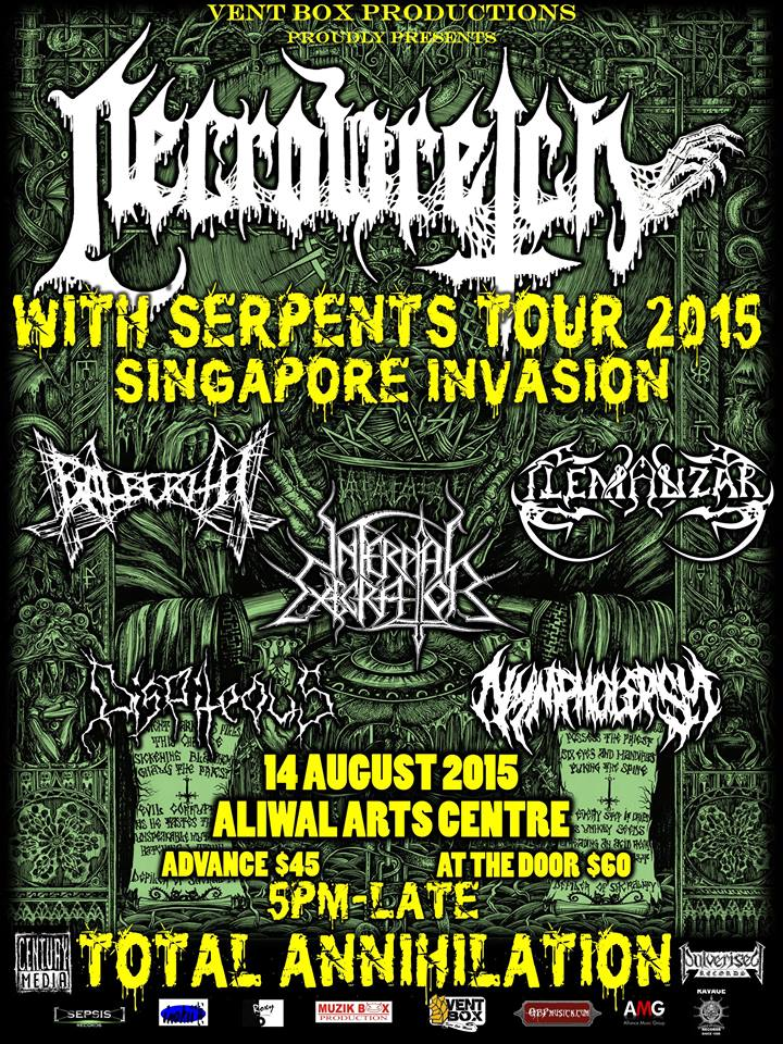 NecroWretch With Serpents Tour Singapore Invasion 2015