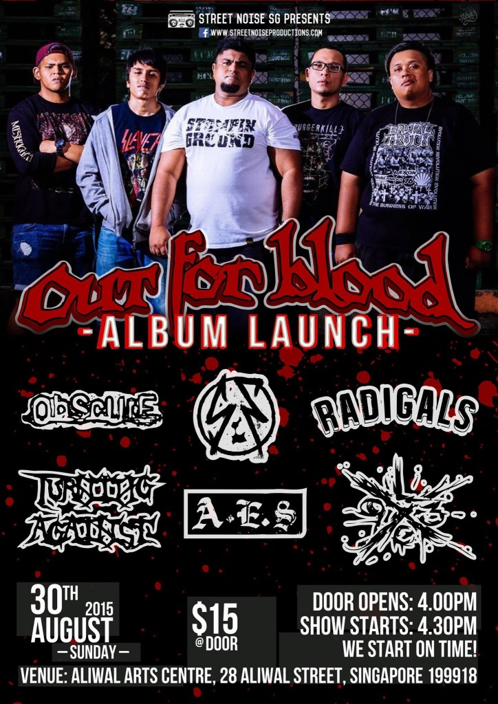 OUT FOR BLOOD (SG) Album Launch @ Aliwal Arts Centre