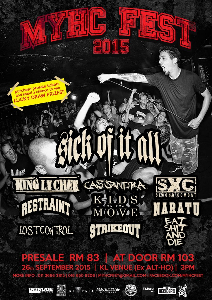 MYHC Fest 2015 featuring Sick of it All x King Ly Chee