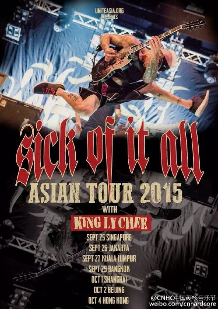 Sick of It All Asian Tour with King Ly Chee