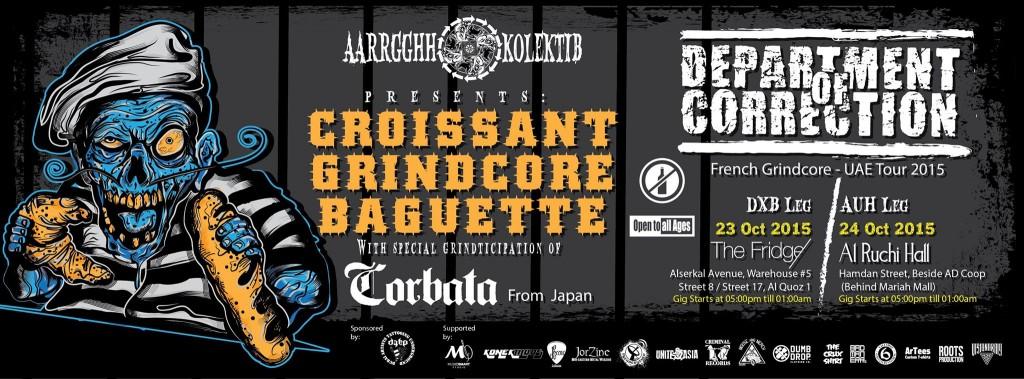 Croissant Grindcore Baguette Department Of Correction(France)U.A.E Tour Featuring Corbata(Japan Grindcore)