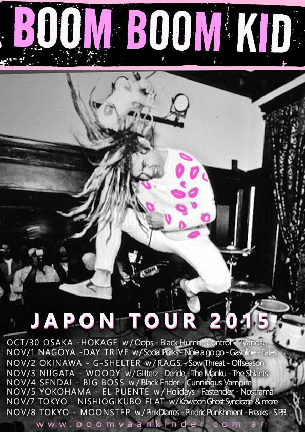 Boom Boom Kid (from Arigentina) Japan tour 2015