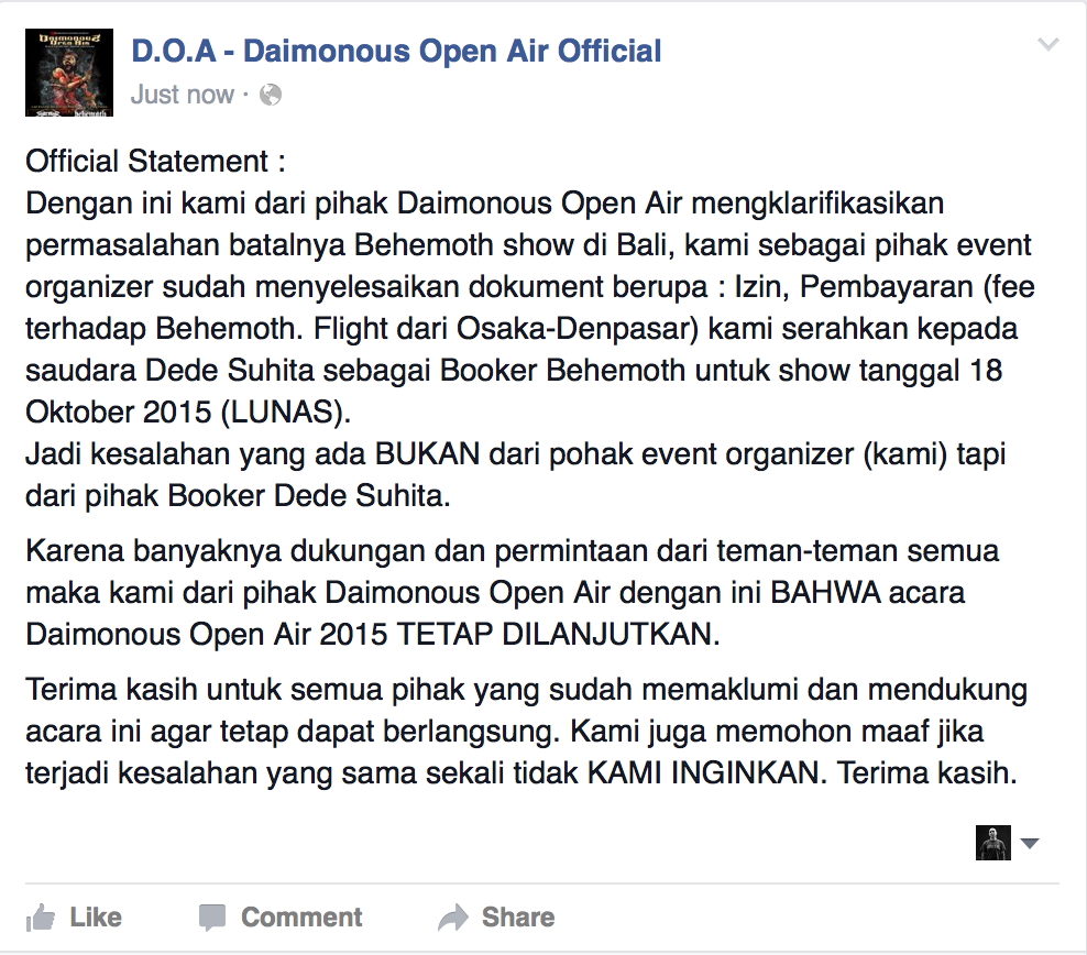 Daimonous Open Air