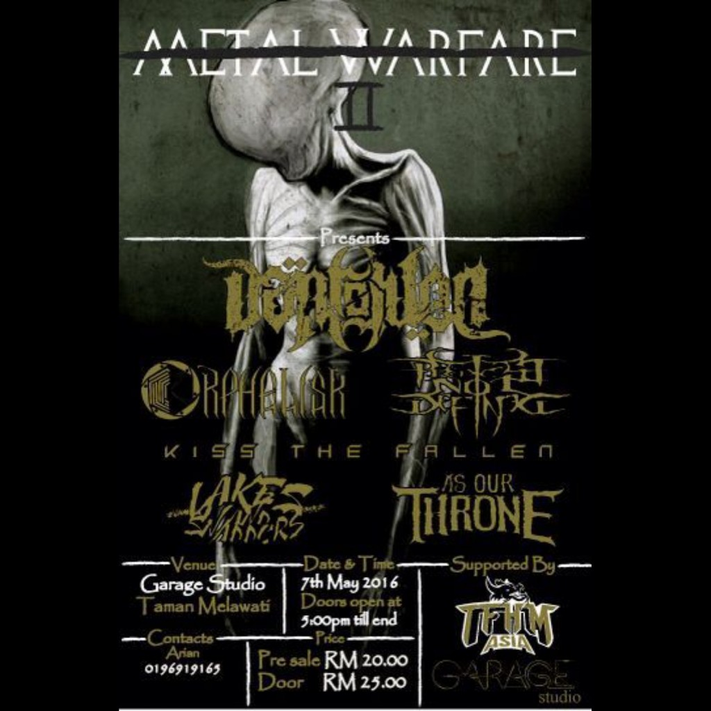 Metal Warfare 2 LIVE at Garage Studio KL