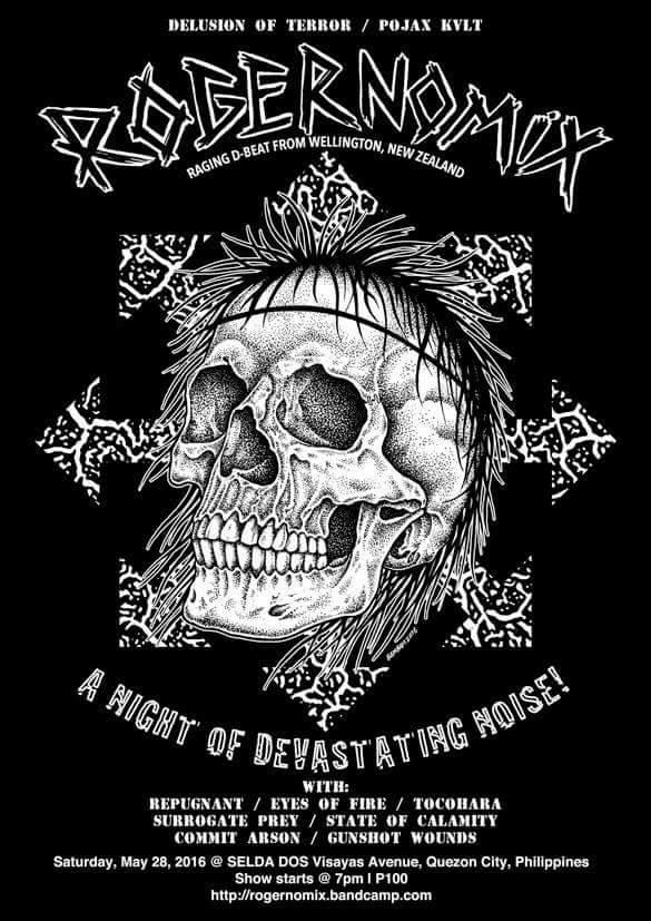 A Night Of Devastating Noise! Rogernomix (Wellington, New Zealand D-Beat) Manila leg