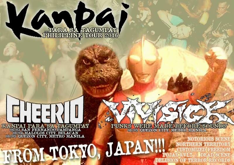 "Cheerio (Tokyo, Japan) and Viovisick (Tokyo, Japan) ""Kanpai Para Sa Tagumpay"" Philippine Tour"