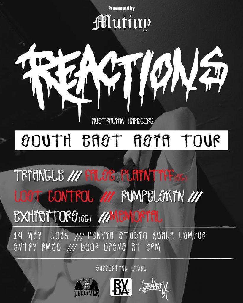 REACTIONS (aus) SEA tour