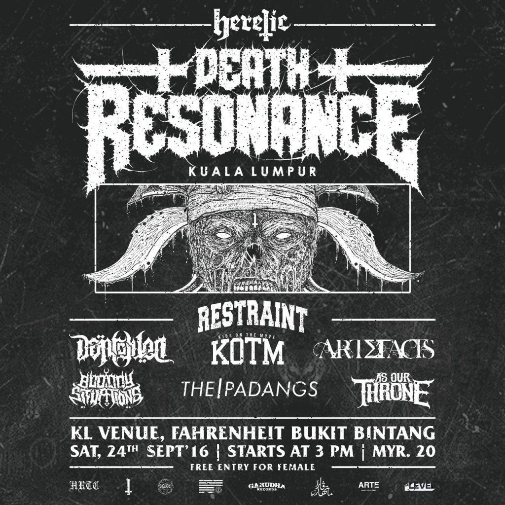 Heretic Deadly Merch & Garudha Records present Death Resonance