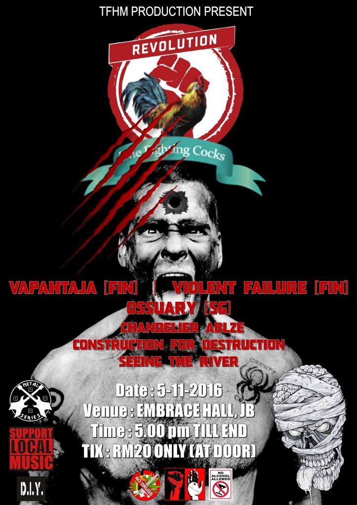 VAPAHTAJA & VIOLENT FAILURE ( Finland ) Live In Johor Bahru