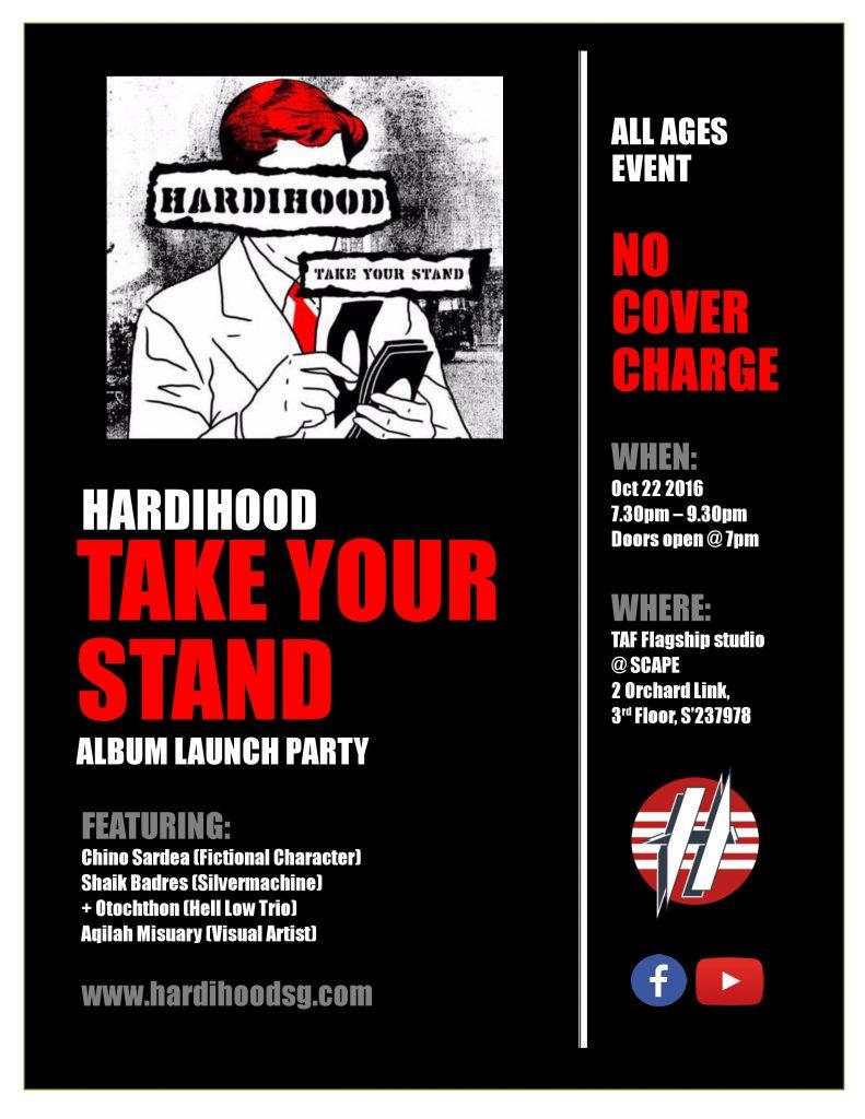 Hardihood 'TakeYourStand' debut Album launch Party