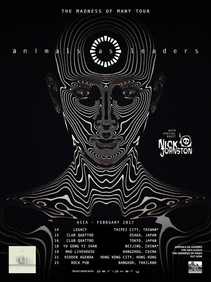 Animals As Leaders Announce Asian Tour Unite Asia