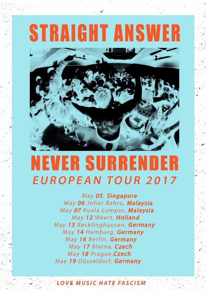 Indonesian hardcore band Straight Answer announce European tour - BE