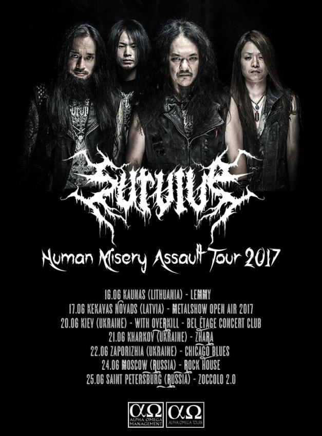 Japanese Thrash Metal Band Survive Announce Eastern European Tour