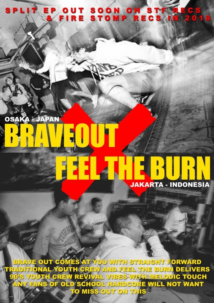 Straight edge hardcore bands Braveout [Japan] and Feel the